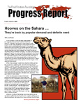 4th Quarter 2008 - Hooves on the Sahara � They�re back by popular demand and definite need